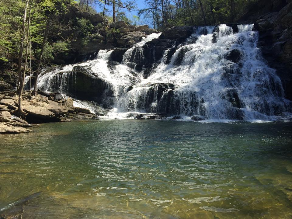 Salt Creek Falls is one of the better cascade falls in Alabama.