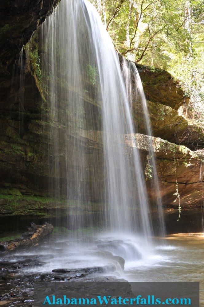 Caney Creek Falls side