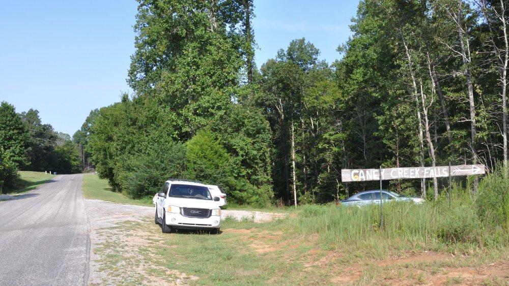 Caney Creek Falls Sign