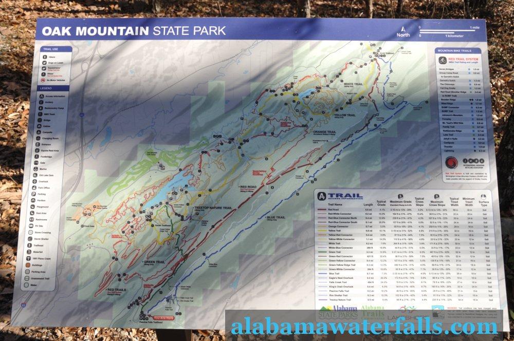 Peavine Falls map