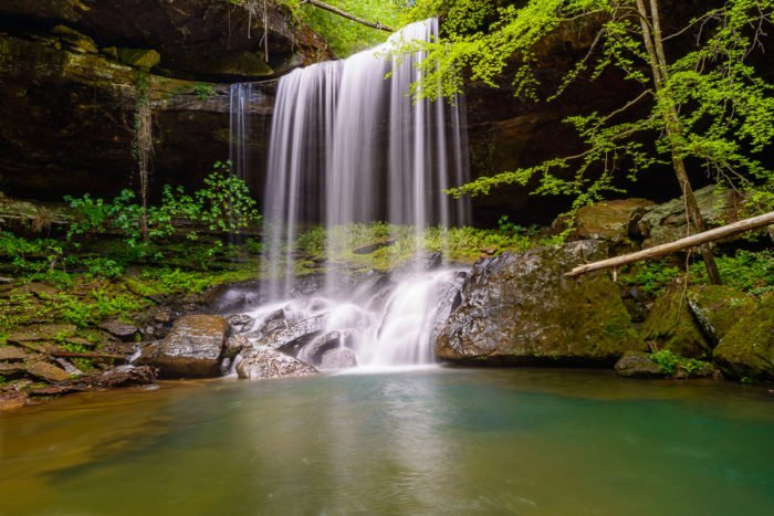 Sougahoagdee Falls in Bankhead National Forest, Alabama