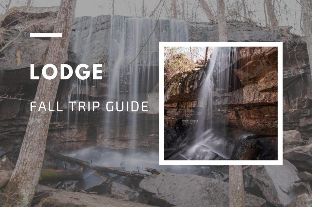 Lodge Falls in Desoto State Park Alabama