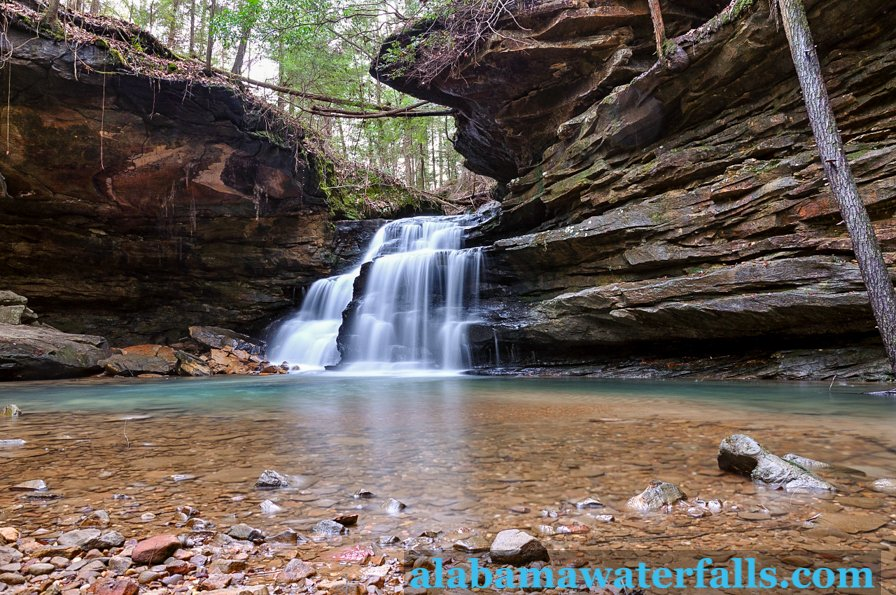 Mize Mill Falls in Bankhead National Forest