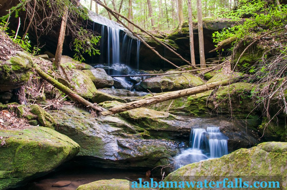 Wolfpen Falls wide, Sipsey Wilderness area of Bankhead National Forest